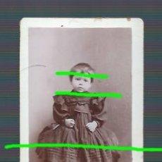 Fotografía antigua: RETRATO. NIÑA ENLUTADA. TOTANA, MURCIA. SIGLO XIX. FOTÓGRAFO FRANCISCO ARRABY. ÁGUILAS, MURCIA.. Lote 192072137