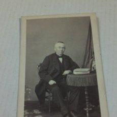 Fotografía antigua: FOTOGRAFÍA DISDERI MADRID CARTA DE VISITA. Lote 192523291