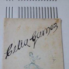 Fotografía antigua: PROGRAMACIÓN DE LA GRAN COMPAÑÍA DE COMEDIAS LÍRICAS TEATRO TIVOLI 1943.CELIA GOMEZ. Lote 192566437
