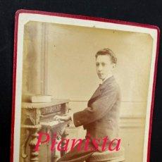 Fotografía antigua: PIANISTA - BARCELONA - 1890'S - FOTOGRAFIA J. MARTI . Lote 193998296