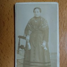 Fotografía antigua: FOTO M. MORA. SEÑORA.. Lote 194514673