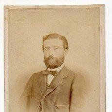 Fotografía antigua: RAMON DEL FRESNO. OVIEDO. PRIMER ESTUDIO DEL FOTOGRAFO. RETRATO MASCULINO. 1858. ASTURIAS. Lote 194528775