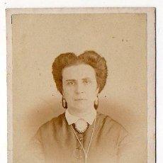 Fotografía antigua: RAMON DEL FRESNO. OVIEDO. PRIMER ESTUDIO DEL FOTOGRAFO. RETRATO FEMENINO. 1858. ASTURIAS. Lote 194528940
