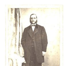 Fotografía antigua: ANTIGUA CARTA DE VISITA DE CABALLERO. Lote 194910292