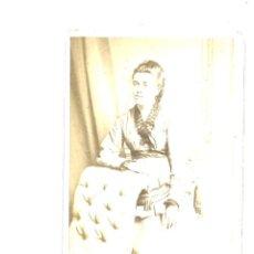 Fotografía antigua: CDV DE DAMA. VERNEUIL. PARÍS. Lote 194910358