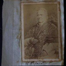 Fotografía antigua: PAPA PIO 9 - FOTO ORIGINAL 1863 9 X 6 CM. Lote 194977911