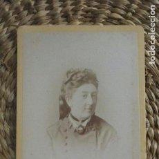 Fotografia antica: CDV. RETRATO DAMA. S. XIX 1868. Lote 195369755