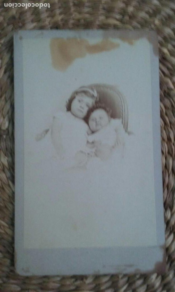 RETRATO DE DOS NIÑOS PEQUEÑOS.1869. STRASBOURG (Fotografía Antigua - Cartes de Visite)