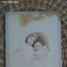 Fotografía antigua: RETRATO DE DOS NIÑOS PEQUEÑOS.1869. STRASBOURG. Lote 195408358