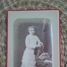 Fotografía antigua: CDV. RETRATO DE UNA NIÑA. 1878. NANCY.. Lote 195409561