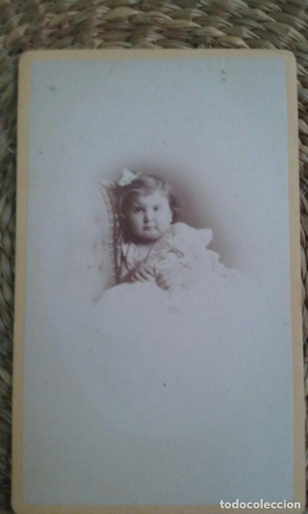 CDV. RETRATO DE UNA NIÑA. 1873. STRASBOURG (Fotografía Antigua - Cartes de Visite)