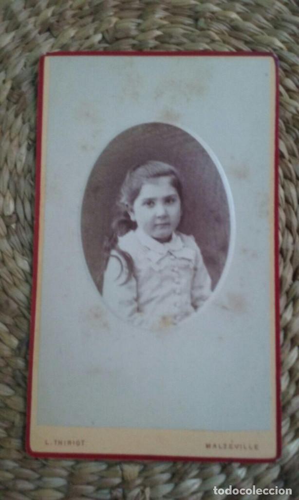 CDV. RETRATO DE UNA NIÑA. 1878. NANCY. (Fotografía Antigua - Cartes de Visite)