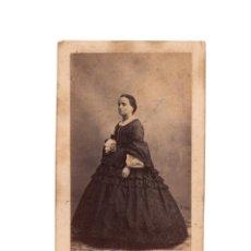 Fotografía antigua: CARTE DE VISITE. ESTUDIO FOTOGRÁFICO. J. LAURENT. MADRID.. Lote 196214921