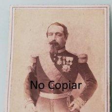 Fotografía antigua: FOTOGRAFIA ALBUMINA TIPO CDV DE EL EMPERADOR DE FRANCIA, NAPOLEON III, CON UNIFORME MILITAR, HACIA 1. Lote 196734746