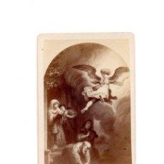 Fotografía antigua: CARTE DE VISITE. PINTURA DEREMBRANT. EL RETORNO DE TOBÍAS.. Lote 196934698