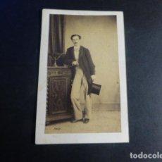 Fotografía antigua: CARTE DE VISITE RETRATO HOMBRE LAURENT FOTOGRAFO MADRID HACIA 1865. Lote 197182452
