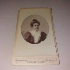 Fotografía antigua: FOTOGRAFÍA. CDV CHARLES GALLOT, PARÍS, PRINCIPIOS DE SIGLO XX (1900). Lote 197251163