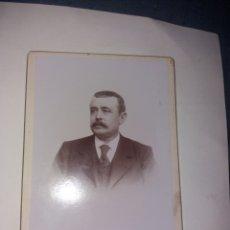 Fotografía antigua: CABINET SEÑOR FOT. CANTOS ALICANTE 17X11 CM. PRECIOSO REVERSO. Lote 197452498