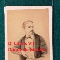 Fotografía antigua: FOTOGRAFÌA DE D. CARLOS VII DE BORBÓN. CARLISTA. CA 1860. Lote 197483425