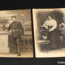 Fotografía antigua: CONJUNTO DE CARTAS DE VISITA - TARJETAS POSTAL - FOTOGRAFÍA ANTIGUA - MILITAR Y MUJER. Lote 197664658