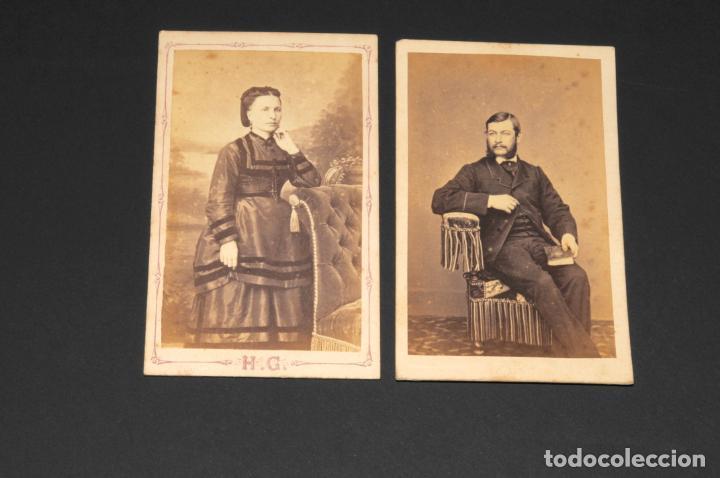 CONJUNTO DE CARTAS DE VISITA - FOTOGRAFÍA ANTIGUA - (Fotografía Antigua - Cartes de Visite)