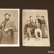 Fotografía antigua: CONJUNTO DE CARTAS DE VISITA - FOTOGRAFÍA ANTIGUA - FAMILIA Y HOMBRE. Lote 197736842