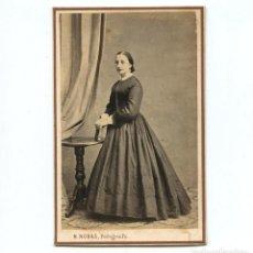 Fotografía antigua: BÁRBARA MIR Y JOEL. 18 OCTUBRE 1864. FOTO: PORTICOS SANTO DOMINGO, PALMA DE MALLORCA. CDV. Lote 199142751