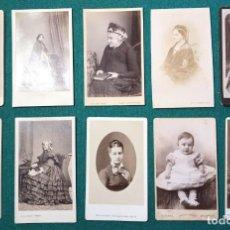 Fotografía antigua: 10 FOTOGRAFÍAS CDV DE DAMAS INGLESAS. SIGLO XIX. Lote 200582418