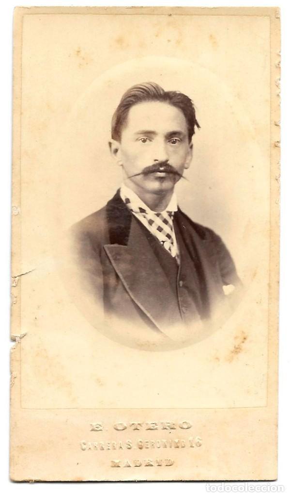 1872 CA FOTOGRAFÍA CARTE DE VISITE ALBUMINA CDV 60X105MM FOTÓGRAFO E. OTERO MADRID (Fotografía Antigua - Cartes de Visite)