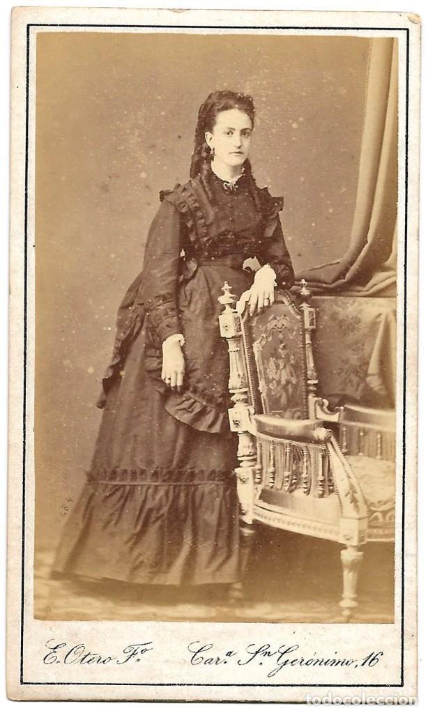 1875 CA FOTOGRAFÍA CARTE DE VISITE ALBUMINA CDV 60X105MM FOTÓGRAFO E. OTERO MADRID (Fotografía Antigua - Cartes de Visite)