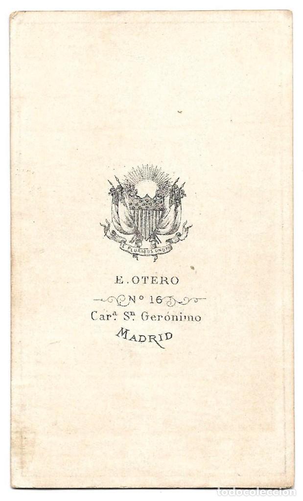 Fotografía antigua: 1875 ca Fotografía carte de visite albumina CDV 60x105mm Fotógrafo E. Otero Madrid - Foto 2 - 201103773
