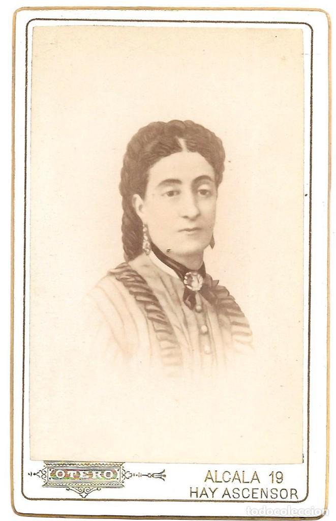 1880 CA FOTOGRAFÍA CARTE DE VISITE ALBUMINA CDV 60X105MM FOTÓGRAFO E. OTERO MADRID (Fotografía Antigua - Cartes de Visite)