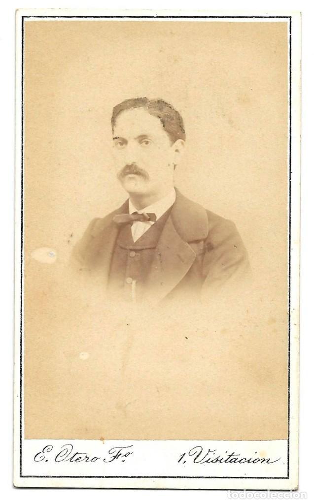 1870 CA FOTOGRAFÍA CARTE DE VISITE ALBUMINA CDV 60X105MM FOTÓGRAFO E. OTERO MADRID (Fotografía Antigua - Cartes de Visite)