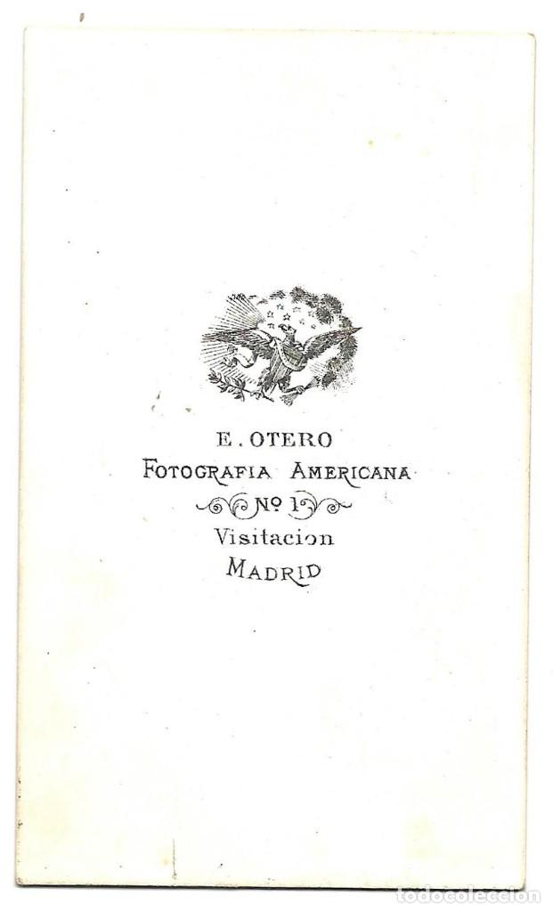 Fotografía antigua: 1870 ca Fotografía carte de visite albumina CDV 60x105mm Fotógrafo E. Otero Madrid - Foto 2 - 201105752