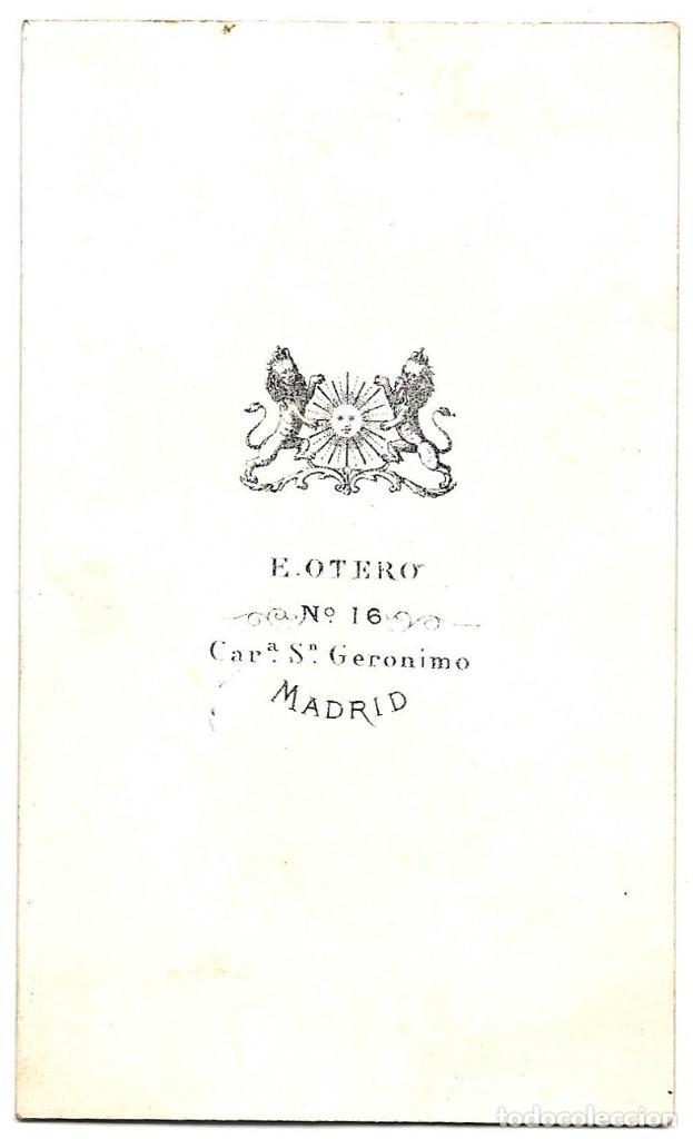 Fotografía antigua: 1875 ca Fotografía carte de visite albumina CDV 60x105mm Fotógrafo E. Otero Madrid - Foto 2 - 201105795