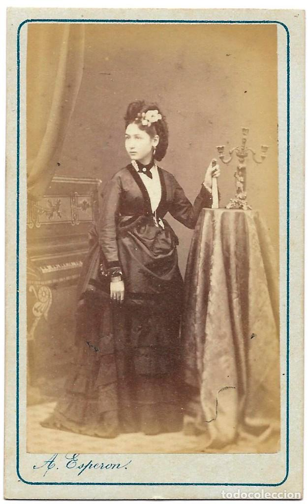 1875 CA FOTOGRAFÍA CARTE DE VISITE ALBUMINA CDV 60X105MM FOTÓGRAFO A. ESPERON MADRID (Fotografía Antigua - Cartes de Visite)