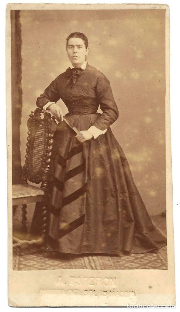 1878 CA FOTOGRAFÍA CARTE DE VISITE ALBUMINA CDV 60X105MM FOTÓGRAFO A. ESPERON MADRID (Fotografía Antigua - Cartes de Visite)
