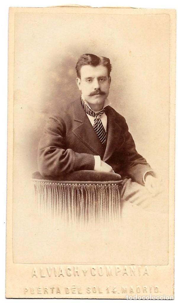 1871CA FOTOGRAFÍA CARTE DE VISITE ALBUMINA CDV 60X105MM FOTÓGRAFO ALBIACH MADRID. (Fotografía Antigua - Cartes de Visite)
