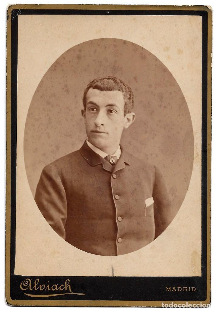 1878CA FOTOGRAFÍA CARTE DE VISITE ALBUMINA CDV CABINET FOTÓGRAFO ALBIACH MADRID. (Fotografía Antigua - Cartes de Visite)
