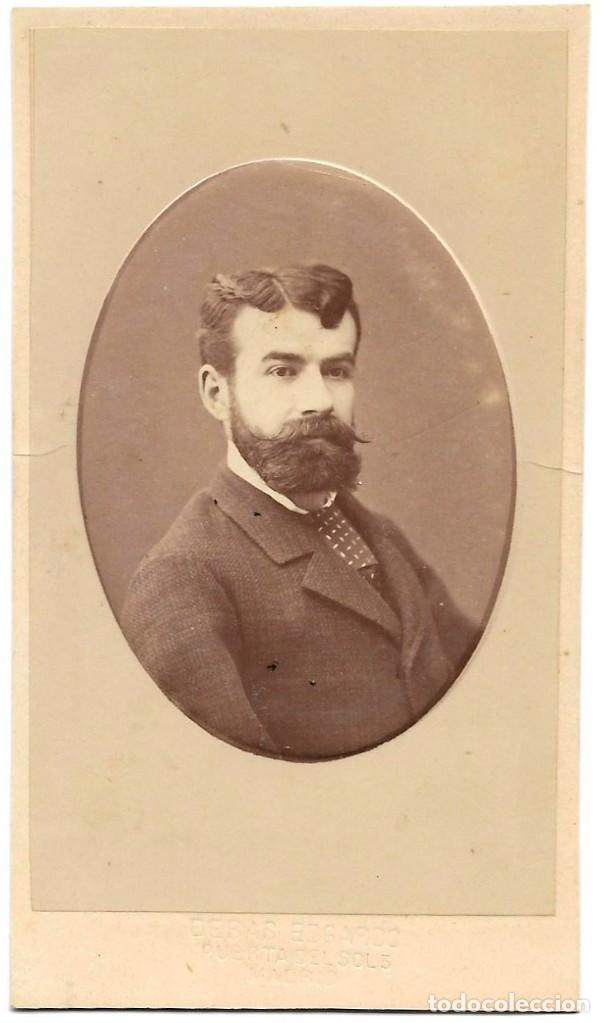 1878CA FOTOGRAFÍA CARTE DE VISITE ALBUMINA CDV FOTÓGRAFO EDGARDO DEBAS MADRID (Fotografía Antigua - Cartes de Visite)