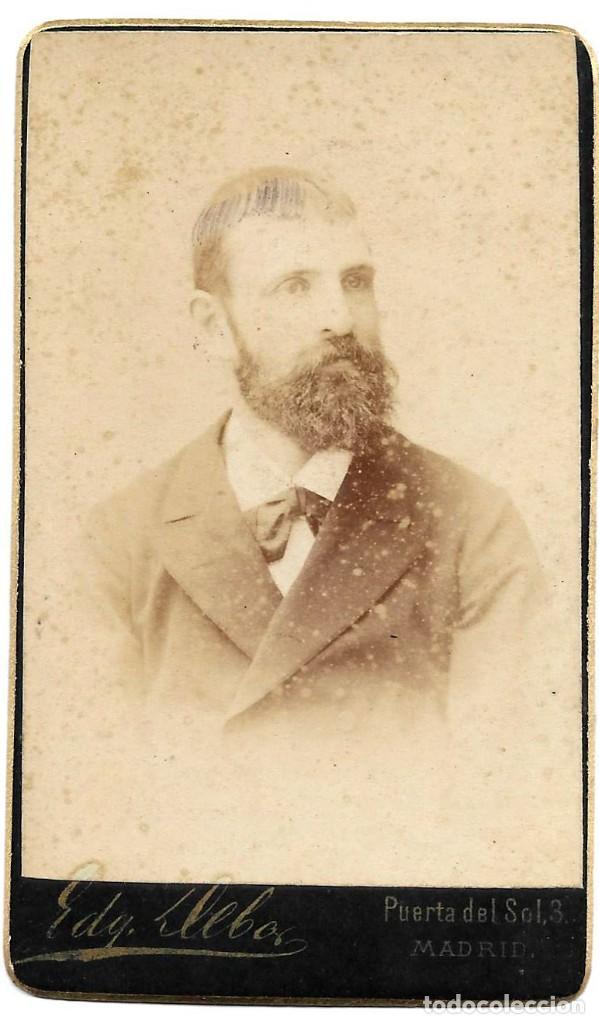 1880CA FOTOGRAFÍA CARTE DE VISITE ALBUMINA CDV FOTÓGRAFO EDGARDO DEBAS MADRID (Fotografía Antigua - Cartes de Visite)