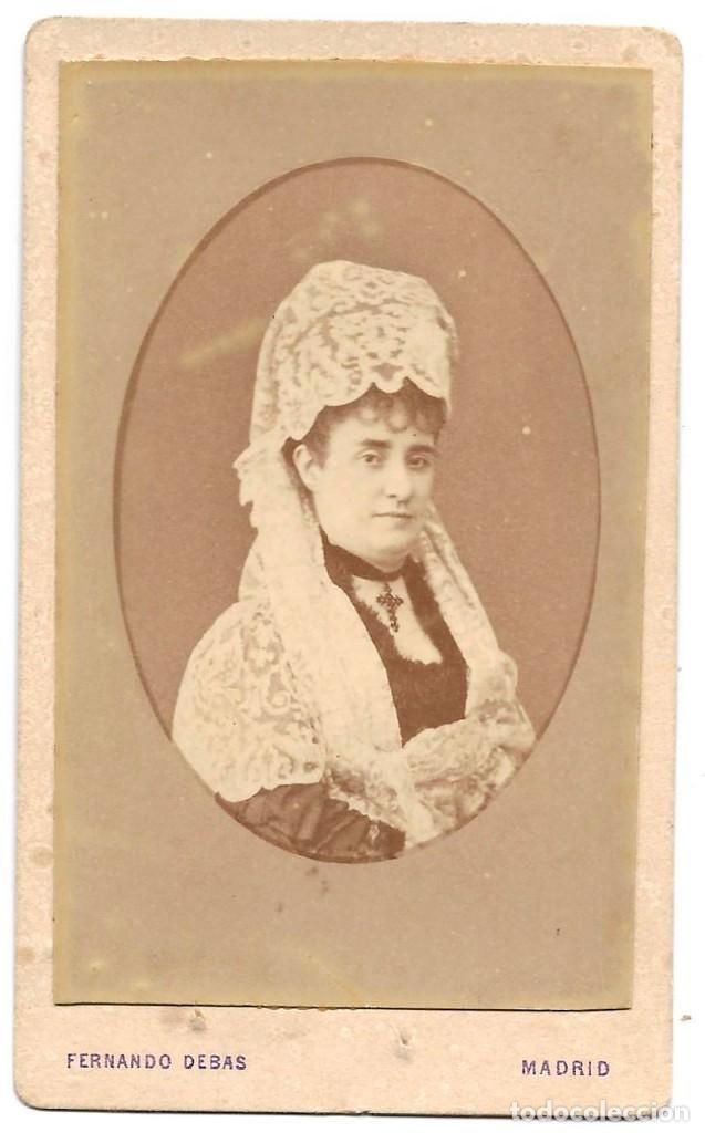 1876CA FOTOGRAFÍA CARTE DE VISITE ALBUMINA CDV FOTÓGRAFO FERNANDO DEBAS MADRID (Fotografía Antigua - Cartes de Visite)