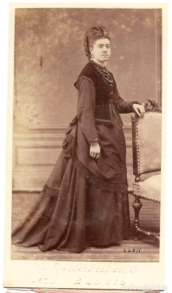 1876CA FOTOGRAFÍA CARTE DE VISITE ALBUMINA CDV FOTÓGRAFO EDUARDO BLASCO, MADRID (Fotografía Antigua - Cartes de Visite)