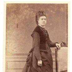 Fotografia antica: 1876CA FOTOGRAFÍA CARTE DE VISITE ALBUMINA CDV FOTÓGRAFO EDUARDO BLASCO, MADRID. Lote 201155250