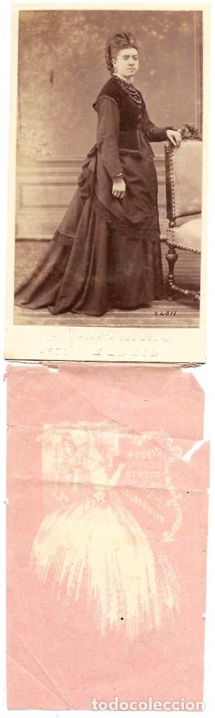 Fotografía antigua: 1876ca Fotografía carte de visite albumina CDV Fotógrafo Eduardo Blasco, Madrid - Foto 2 - 201155250