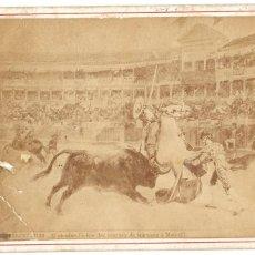 Fotografía antigua: 1876 CA FOTOGRAFÍA CARTE DE VISITE CDV TIPO CABINET (J. LAURENT) TAUROMAQUIA. CORRIDA DE TOROS . Lote 201586701