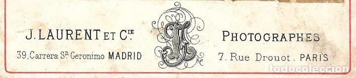 Fotografía antigua: 1876 ca Fotografía Carte de visite CDV Tipo Cabinet (J. Laurent) Tauromaquia. Corrida de toros - Foto 2 - 201586701