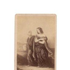 Fotografía antigua: CARTE DE VISITE. PINTURA DE STEUBEN. JUDITH.. Lote 202852863
