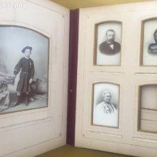 Fotografía antigua: ÁLBUM FOTOGRAFÍAS DE PIEL PARA CARTES DE VISITE. S.XIX. Lote 203368607