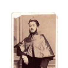 Fotografía antigua: ULPIANO GONZÁLEZ DE OLAÑETA VIZCONDE DE LOS ANTRINES. MADRID, 13.V.1847. Lote 204061690